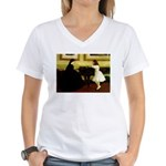 At the Piano Women's V-Neck T-Shirt