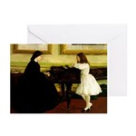 At the Piano Greeting Cards (Pk of 10)