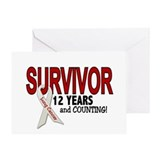 Lung Cancer Survivor 12 Years 1 Greeting Card