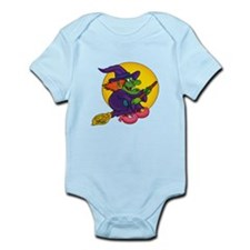 Witch riding Broom Infant Bodysuit
