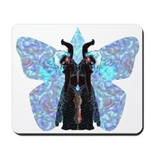 black and blue butterfly Mousepad