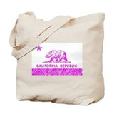 California State Flag Pink Tote Bag
