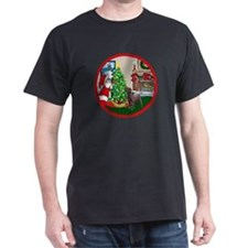 Deck The Halls Chocolate Lab T-Shirt