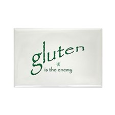 gluten is the enemy Rectangle Magnet (10 pack)