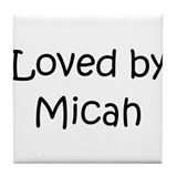 Cute Micah Tile Coaster