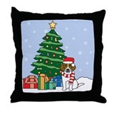 Beagle Christmas Throw Pillow