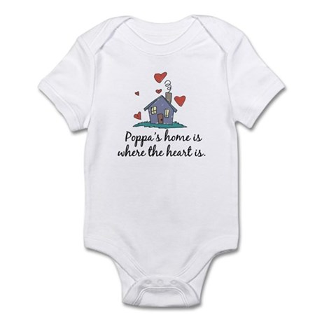 Poppa's Home is Where the Heart Is Infant Bodysuit