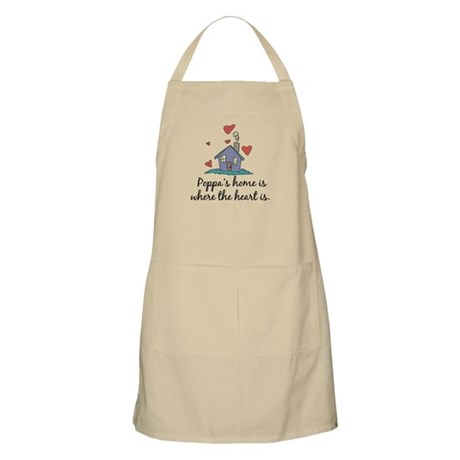 Poppa's Home is Where the Heart Is BBQ Apron