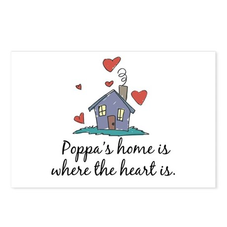 Poppa's Home is Where the Heart Is Postcards (Pack