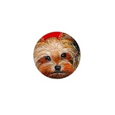 dog_yorkie_q01 Mini Button (100 pack)