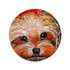 "dog_yorkie_q01 3.5"" Button (100 pack)"