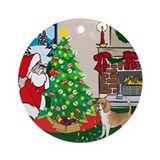 Deck The Halls Beagle Ornament (Round)