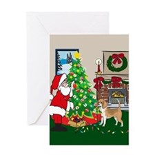 Deck The Halls Beagle Greeting Card