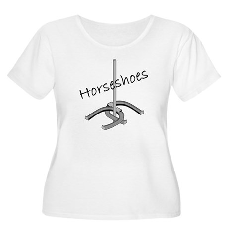 Horseshoes Women's Plus Size Scoop Neck T-Shirt