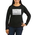 County Signal Number 1 Women's Long Sleeve Dark T-
