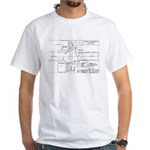 County Signal Number 1 White T-Shirt