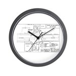 County Signal Number 1 Wall Clock
