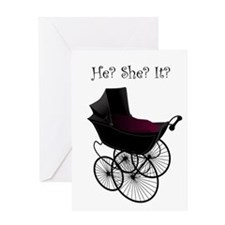Gothic Pram Baby card
