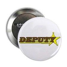 "DEPUTY ~ BROWN-YELLOW 2.25"" Button (10 pack)"