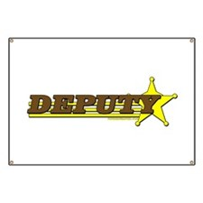 DEPUTY ~ BROWN-YELLOW Banner