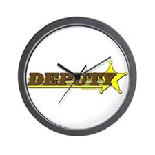 DEPUTY ~ BROWN-YELLOW Wall Clock