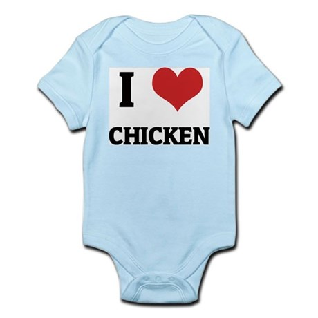 I Love Chicken Infant Creeper