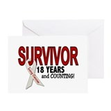 Lung Cancer Survivor 18 Years 1 Greeting Card