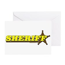 SHERIFF ~ YELLOW-BROWN Greeting Cards (Pk of 20)
