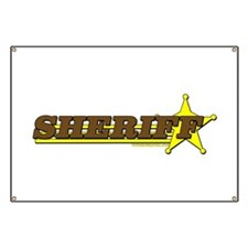 SHERIFF ~ BROWN-YELLOW Banner