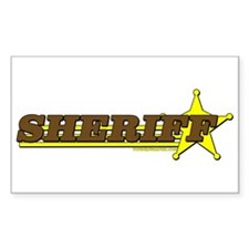 SHERIFF ~ BROWN-YELLOW Rectangle Decal