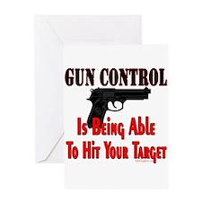 GUN CONTROL ~ HANDGUN Greeting Card