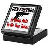 GUN CONTROL ~ HANDGUN Keepsake Box