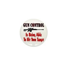 GUN CONTROL ~ RIFLE Mini Button (10 pack)