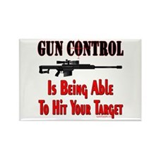 GUN CONTROL ~ RIFLE Rectangle Magnet (10 pack)