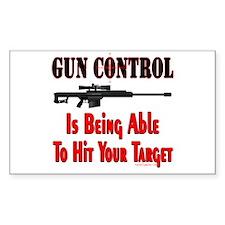 GUN CONTROL ~ RIFLE Rectangle Decal