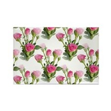 THINK PINK Roses Rectangle Magnet (10 pack)