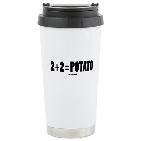 2+2=POTATO Ceramic Travel Mug