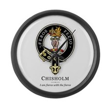 Clan Chisholm Large Wall Clock