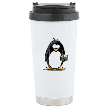 Sushi Penguin Ceramic Travel Mug