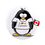 "Canada Penguin 3.5"" Button"