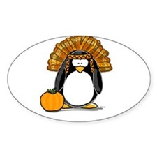 Indian Chief Penguin Oval Decal