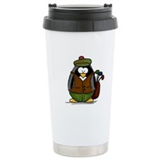 Golf Penguin Ceramic Travel Mug