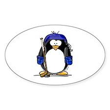 Hockey Penguin Oval Decal