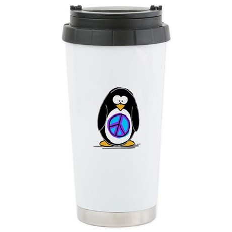 Peace penguin Ceramic Travel Mug