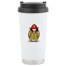 Fire Rescue Penguin Ceramic Travel Mug