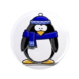 "Blue Scarf Penguin 3.5"" Button"