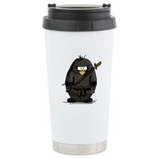 Martial Arts ninja penguin Ceramic Travel Mug