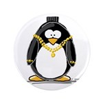 "Bling penguin 3.5"" Button"