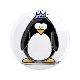 "Princess penguin 3.5"" Button"