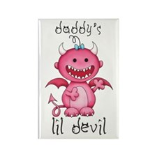 Daddy's Lil Girl Devil Rectangle Magnet